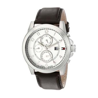 Harga Tommy Hilfiger Watch Bayside Brown Stainless-Steel Case Leather Strap Mens NWT + Warranty 1710294