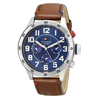 Harga Tommy Hilfiger Men's 1791066 Stainless Steel Watch With Brown Leather Band - Intl
