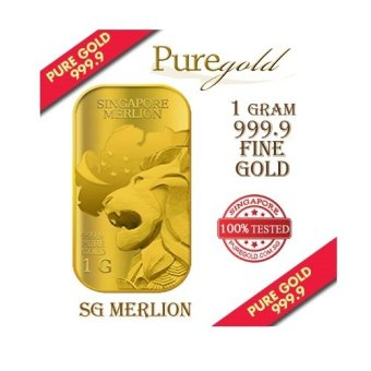 Harga Puregold Singapore Merlion MAP Gold Bar 1g.