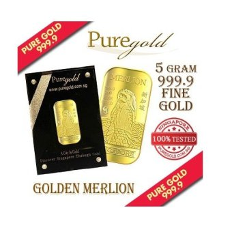 Harga Puregold Singapore Merlion CLASSIC Gold Bar 5g.