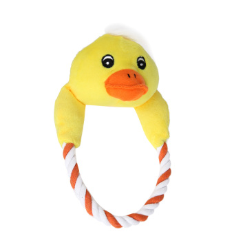 Harga Puppy Plush Toys Interactive Chew Squeaker Toy Sound Duck (Green) - intl
