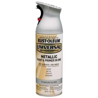 Harga Rust-Oleum All-Surface Spray Paint 12oz (Metallic Titanium Silver)
