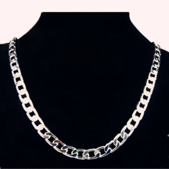 Harga FASHION Men Jewery 925 Silver Necklace for Men 20Inch