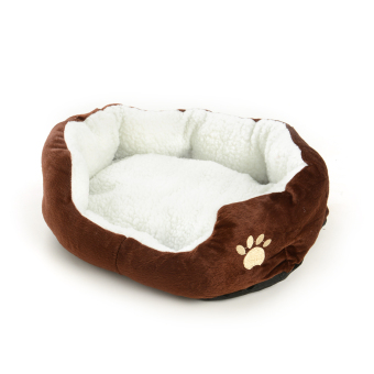 Harga New Pet Dog Puppy Cat Fleece Warm Bed Kennel Mat Cushion Pad Washable