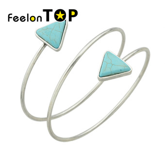 Harga Feelontop New Fashion Imitation Turquoise Cuff Upper Arm Bracelets for Women