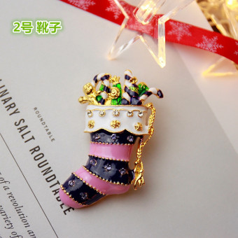 Harga Small z superior products christmas sweet atmosphere of winter mix and match christmas tree santa claus brooch