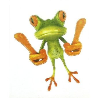 3D Belaud Frog Funny Car Stickers Truck Window Decal Graphics Sticker Green - intl