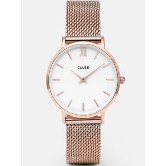 Harga CLUSE MINUIT MESH ROSE GOLD/WHITE CL30013