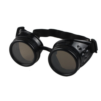 Vintage Style Steampunk Goggles Welding Punk Glasses Cosplay Black