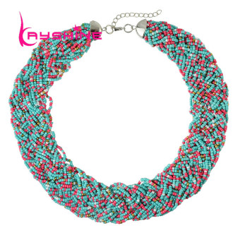 Kayshine Bohemian Multilayers Colorful Beads Choker Collar Necklace - intl