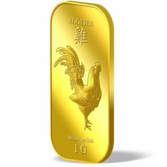 Harga Puregold Singapore Golden Rooster Gold Bar 1g.