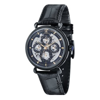 Harga Thomas Earnshaw GRAND CALENDAR ES-8043-07 Men's Black Genuine Leather Strap Watch - intl