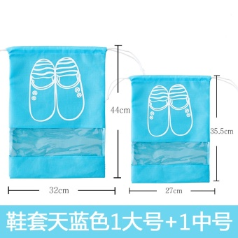 Harga Travel shoes pouch shoe drawstring closure footwear storage bag portable beam port bag dust shoes cover luggage storage bag