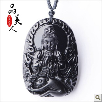 Harga Large day Zodiac monkey who natal Buddha pendant necklace