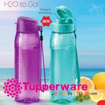 Harga TUPPERWARE NEW DESIGNS [H2O PURPLE] Eco Water Bottle Flip Top Fliptop 750ml