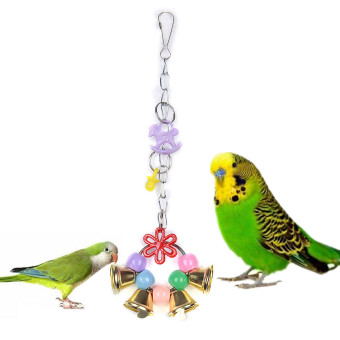 Harga Parrot Pet Bird Chew Cages Hang Toys Wood Large Rope Cave Ladder Bells Chew Toy
