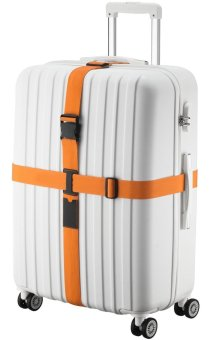 SINOKAL Luggage Strap Suitcase Travel Belt Extra Long Non-Lock Buckle (Belt Only)-Orange (EXPORT)