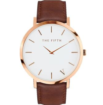 Harga The Fifth Quartz Watch Men Women Famous Brand Gold Leather Band Wrist Watches Relojes 2017 Montre Homme Erkek Kol Wristwatch - intl