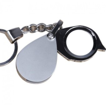 30mm 3X Pocket Folding Magnifier Reading Magnifying Glass Loupe With KeyChain
