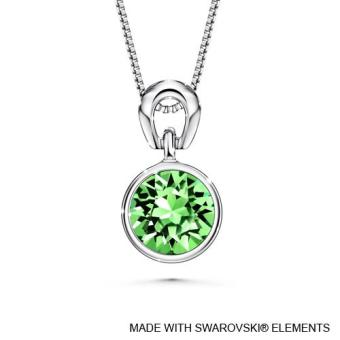Harga Birthstone Solitaire Pendant August (Peridot) Crystals from Swarovski®