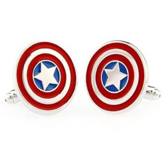 Harga Okdeals Men Shirt Square DC Marvel Groom Super Hero Cuff Links Flash (EXPORT)