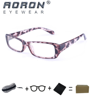 Harga [Buy 1 Get 1 Freebie] AORON Brand New Style Anti-radiation Reading Glasses Anti-fatigue Computers Glasses Gold Film Eyeglasses 21007Leopard - intl