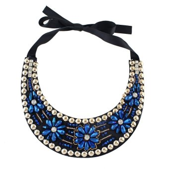 Harga Bohemian Style Colorful Beads Flower Statement Collar Necklace