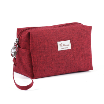 Harga 2017 new high quality matte fabric lady hand carry style clutch bag cosmetic bag small items storage 1 free postage