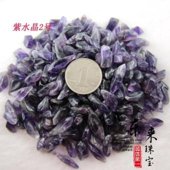 Excellent selected natural amethyst gravel degaussing pillow