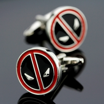 Harga High quality french cufflinks men's cufflinks deadpool super hero deadpool shape cufflinks