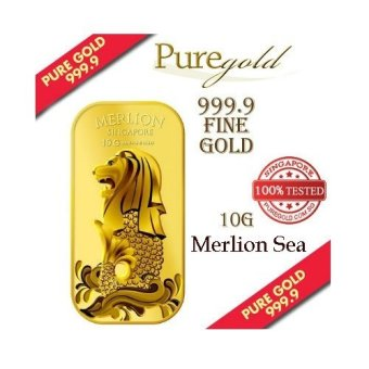 Harga Puregold Singapore Merlion SEA Gold Bar 10g.