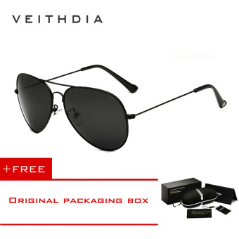 Harga VEITHDIA Brand Classic Fashion Polarized Sunglasses Men/Women Colorful Reflective Coating Lens Eyewear Accessories Sun Glasses 3026(Black) [ Buy 1 Get 1 Freebie ]