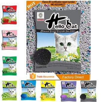 Harga Hello Cat Scoopable Green Tea Cat Litter 10L