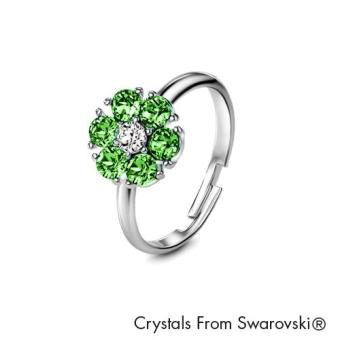 Harga Birthstone Flower Ring August (Peridot) - Crystals from Swarovski®
