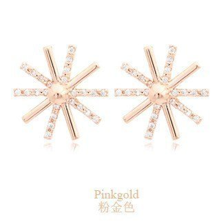 Star flower daisy silver plated earrings - intl