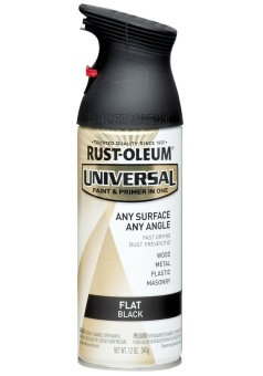 Harga Rust-Oleum All-Surface Spray Paint 12oz (Flat Black)