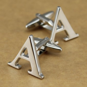 Harga Xin Na English letter cufflinks