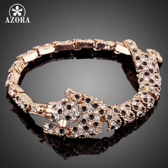 Harga Brand Design Rose Gold Plated Stellux Austrian Crystal The Tiger Design Bracelet TS0015 - intl