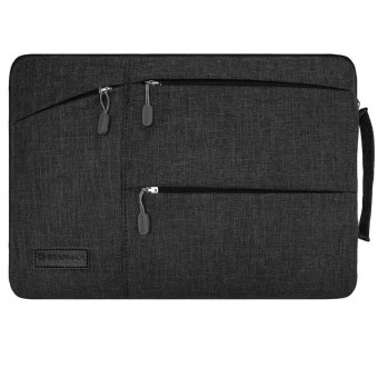 Harga GEARMAX 13.3 Inch Laptop Sleeve Case with Handle Fabric Cover Protective Briefcase(Black) - Intl