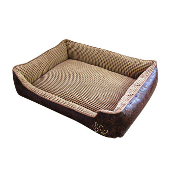 Harga 70*50*22CM Waterproof Washable Detachable Pet Kennel Small Medium Dogs Bed Couch Soft Comfortable Mat Christmas Decor(Coffee) - intl