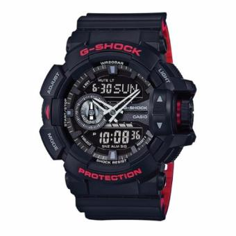 Casio G-Shock Black & Red Series Special Color Models Black Resin Watch GA400HR-1A