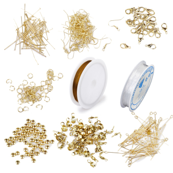 Harga Jewellery Making Starter Kit Findings Elastic Cord Thread Golden