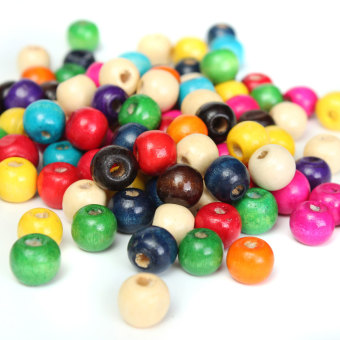 Harga 100 WOODEN beads pack 10mm
