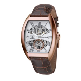 Harga Thomas Earnshaw HOLBORN ES-8015-04 Men's Brown Genuine Leather Strap Watch - intl