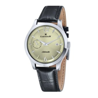 Harga Thomas Earnshaw BLAKE ES-8034-02 Men's Black Genuine Leather Strap Watch - intl