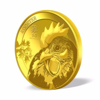 Harga Puregold Singapore Golden Rooster Gold Coin 5g