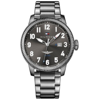 Harga Tommy Hilfiger Casual Sport Grey Steel Men's Watch 1791313
