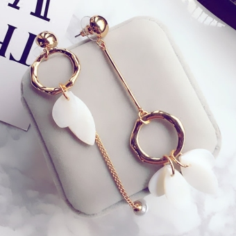 Harga Japan and South Korea temperament female geometric box earrings ear clip fashion earrings Korean jewelry