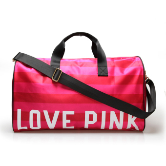 Harga Travel Bag Love Pink Trendy Style