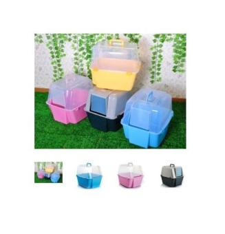 Harga COVERED CAT LITTER BOX WITH FREE SCOOP Pink